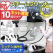 スチームクリーナー スチーム掃除機 スチームモップ アイリスオーヤマ STM-304PK 高圧高温(あすつく)