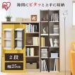ラック 収納 本棚 書棚 オープンラック ディスプレイラック 文庫 スペースユニット 2段 アイリスオーヤマ