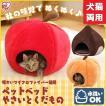 あったかペットベッド ペット用品 猫 ペットハウス あったかデザイン りんご・くり・かぼちゃ  冬 おしゃれ ほかほか