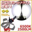 LEDヘッドライト H9 PHILIPS LUXEON MZ 2500LM/6500K 白い美光  送料無料