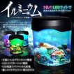 アクアリウム 卓上 クラゲ が住む インテリア 水槽 ミニ 水族館 3色 イルミネーション クラゲ3匹 循環ポンプ CM-AC0005