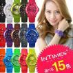 腕時計 レディース INTIMES インタイムス 40mm シリコン ダイバー ボーイズ サイズ選べる15色 シチズン製ムーブ