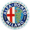アルファロメオ MILANOエンブレムワッペン-月桂冠タイプ/Large-