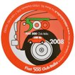 フィアット FIAT 500 CLUB ITALIA 2008 ステッカー(裏貼りタイプ)*最後の在庫