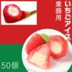 苺アイス 50個入 税込 送料無料 ヒカリ乳業 アイスクリーム デザート 可愛い 個包装