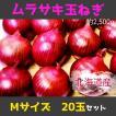 紫玉ねぎ 赤玉ねぎ 北海道産M-Lサイズ 16個 約2.5kg