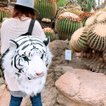 アニマル フェイス リュック ぬいぐるみ インテリア | インパクト大 男女兼用 ホワイトタイガー タイガー ライオン 送料無料