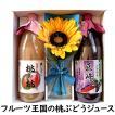母の日 ギフト フルーツジュース 白桃 巨峰 造花 カーネーション セット 1L×2本(一部送料無料)