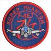 航空自衛隊グッズ 第301飛行隊 ファントムF4EJ改赤パッチ(PA9TN)