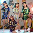 新作  7色選べる可  ダンス 衣装 スパンコール ヒップホップ キッズ ダンス   ジャズダンス ステージ衣装 キラキラ セットアップ ガールズ  チアガール 衣装