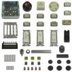準備万端 平成29年度 第二種 電気工事士 技能試験練習用材料「全13問分の器具セット」