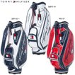 【21年継続モデル】トミーヒルフィガー ゴルフ カーシブ キャディバッグ THMG1SC4 CURSIVE CADDIE BAG