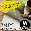 ラグ ラグマット カーペット洗える 下敷きラグ ふかふかプラス 180×180cm