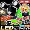 センサーライト 屋外 LED ソーラー式 2灯式 防犯灯 防犯ライト LSL-SBTL-200 アイリスオーヤマ