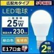 LED電球 E17 広配光タイプ 25W形相当 LDA2N-G-E17-2T52P 2個セット アイリスオーヤマ