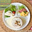 ランチプレート うすかる 軽量 M ホワイト 21.5cm 美濃焼 食器 カフェ 仕切り 日本製 陶器 新生活 まちのうつわ屋さん おしゃれ 洋食器