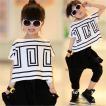 キッズダンス衣装 セットアップ ヒップホップダンス衣装 ダンス衣装キッズ キッズ ダンスパンツ サルエルパンツ キッズ ダンス 衣装 tシャツ 韓国
