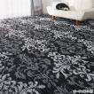 選べる撥水加工タフトカーペット/絨毯 〔オーナメント柄 1: 江戸間2畳/正方形〕 フリーカット可 日本製