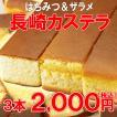 本場長崎のプレーンカステラ 3本セット (約1kg)賞味期限:11月17日