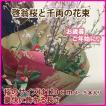 啓翁桜 山形 お歳暮 お正月 桜と千両の花束 桜のサイズ 豪快に飾れる長さ 120cm 4〜5本 年始 正月 通販 花言葉 育て方 花瓶 クリスマス