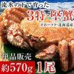 毛ガニ 北海道産 毛蟹 オホーツク産 毛がに 姿 ボイル冷凍 大サイズ 約570g 1尾