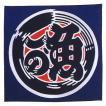 和風バンダナ(川の魚?)−布帽子
