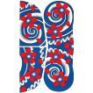 大判ペーパータトゥー(桜吹雪/20cm×35cm) 祭化粧入れ墨シール フェイク刺青 パーティ用タトゥーシール