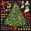 シール クリスマスツリーと靴下 装飾 デコレーション チョークアート 窓 黒板 看板 ステッカー(最低購入数量3枚〜)