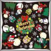 シール クリスマス リース 飾り 装飾 デコレーション チョークアート 窓 黒板 看板 ステッカー(最低購入数量3枚〜)