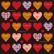 シール バレンタイン ハートマーク チェック柄 装飾 デコレーション チョークアート 窓 黒板 看板 ステッカー(最低購入数量3枚〜)