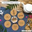 オリジナル ロゴ コースター 【1〜49枚 】名入れ コルク 彫刻 店舗 ノベルティ 販促品 結婚式 記念日 ギフト