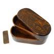 弁当箱 スリム 欅 けやきくりぬき 2段 二段  純 国産 日本製・日本製・木曽漆器 送料無料 箱入り お正月 迎春 おせち