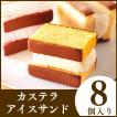お中元 ギフト 和菓子 長崎カステラ アイス サンド8個 洋菓子 スイーツ 送料無料・込 2017年 SGJ6