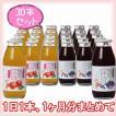 【たっぷり30本】 りんごジュース&ブルーベリージュース 180ml×各15本(30本セット)