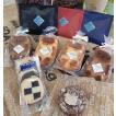 自家焙煎珈琲と焼き菓子のセット…ワンドリップ珈琲×9包、はちみつクマさん(プレーン×1、レモン味×1、きな粉×1、薬草×1)クッキ-×2