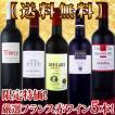 ワインセット その他ワインセット 送料無料 京橋ワイン特大感謝の厳選フランス5本セット wine