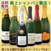 スパークリングワインセット ぜんぶ瓶内2次発酵のシャンパン製法クレマン&カバ 6本セット wine set sparkling