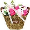 バスフレグランスソープフラワーバスケット(ピンク)母の日 花