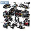 レゴ互換 swat 警察 アクションブロック 戦闘機 ヘリコプター 軍事都市 トラック 695ピース