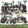 レゴ互換 ブロック 軍隊 軍事基地 ヘリコプター 武器 戦闘 戦車 ミリタリー 兵士27体 Lego 1281ピース