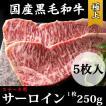ステーキ用  極上ロース(サーロイン)【1セット:5枚入り・1枚約250g】