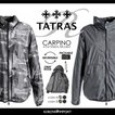 タトラス Rライン TATRAS R Line ブルゾン ジャケット メンズ 収納可フード付き カモフラージュ柄迷彩柄 杢無地 リバーシブル CARPINO