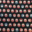 風呂敷 和柄 ふろしき 三巾 105cm×105cm だるま 福だるま ダルマ おしゃれ 黒 和風 和装 和装小物 着物 きもの furoshiki