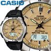 CASIO カシオ ウェーブセプター 620J メンズ ゴールド 樹脂バンド タフソーラー 電波時計