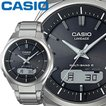 カシオ リニエージ M500TD メンズ ブラック チタンバンド マルチバンド6 ソーラー電波時計 無反射コーティングサファイアガラス CASIO LINEAGE 2016年モデル