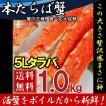 タラバガニ 脚 ボイル 極太 1肩で約1kg 冷凍 北海道加工 5L たらば蟹 送料無料