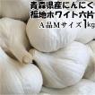 にんにく 青森県産 にんにく ホワイト六片にんにくAMサイズ1kg 5kg以上送料無料