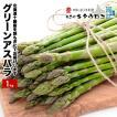 北海道十勝産 朝もぎたてをお届け 訳ありグリーンアスパラガス1kg サイズS-L混在 送料無料 指定日不可 同梱不可 のし不可