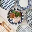パスタ皿 藍染 25.5cm ワンプレート 食器 おしゃれ 美濃焼 丸皿 大皿 北欧