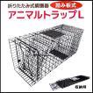 【アニマルトラップL】 折りたたみ式 イノシシ・ハクビシン・小動物などに! 折りたたみ式動物捕獲器 シンセイ FAC-35